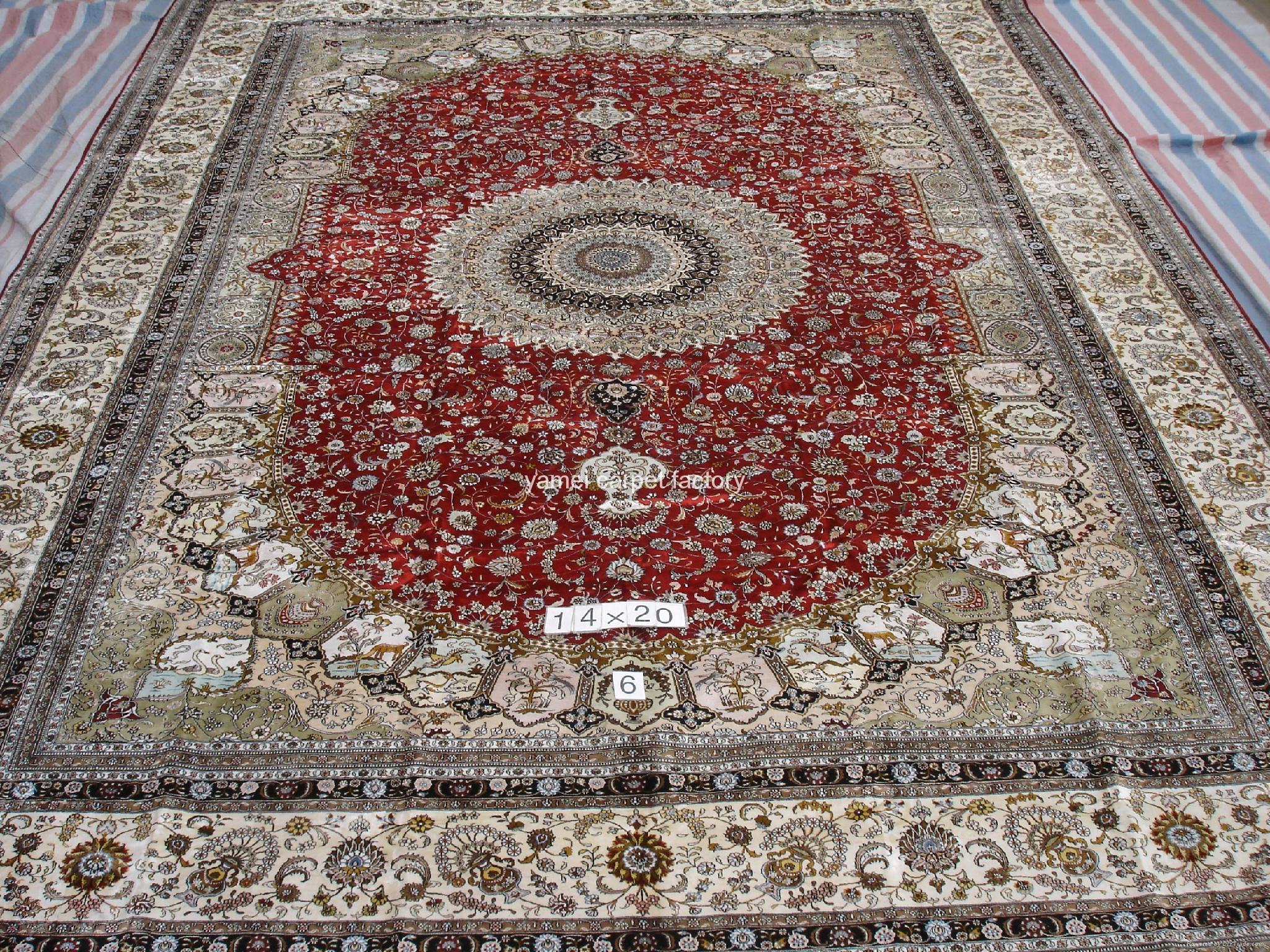 蚕丝挂毯/地毯 水洗真丝波斯地毯 优惠爱尔兰地毯  1