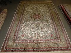 浪漫地毯 5x8ft 手工真絲地毯 最好的古典圖案