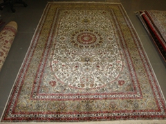 China best handmade persian silk carpets size 5x8 ft Romantic Carpet