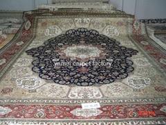 中国   天然染色祈祷地毯 波斯地毯18X12 ft