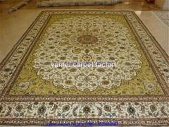 波斯富貴優惠德國 真絲地毯 手工波斯地毯/挂毯305x246cm
