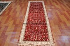 廣州亞美批發走廊地毯 波斯地毯 手工真絲地毯