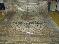 支持iPhone X无线充电—手工打结真丝地毯 波斯地毯 亚美汇美地毯