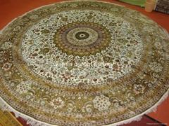 批发手工园形美国 加拿大 比利时园形地毯 手工地毯12x12ft