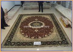 Wholesale handmade real gold carpet and tapestry for living room