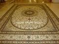 厂价手工天然蚕丝地毯 丝绸波斯