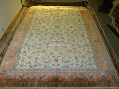 handmade persian carpet size 6x9 ft Let the world love Yamei carpet