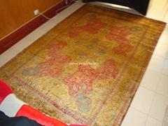 Persian design for Barcelona living room, silk Persian carpet 6x9 ft