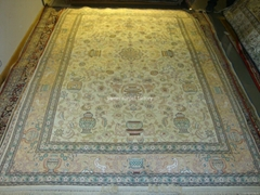 silk handmade persian carpet American carpet for living room