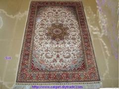 批发供应波斯地毯 5x8ft 波斯地毯 手工真丝地毯