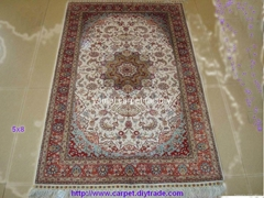 批發供應波斯地毯 5x8ft 波斯地毯 手工真絲地毯