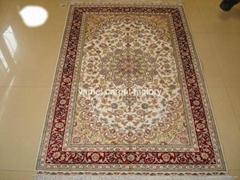 Canton fair 121 natural plant dyeing silk carpet 4x6 ft