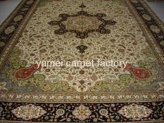 真絲手工波斯圖案,古典圖案,伊朗圖案,直銷風水手工藝地毯