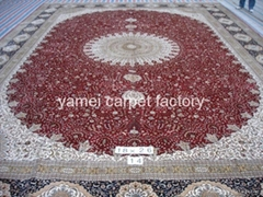 中国好的天然蚕丝地毯厂-亚美生产特大型地毯