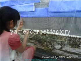 中国好的天然蚕丝地毯厂- 广州仓库13826288657 2