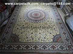 优质 长方形 圆形 方形 椭圆形桑蚕丝波斯地毯