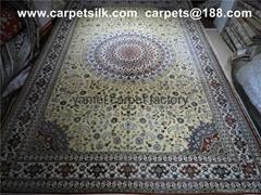 供应优质椭圆形 方形 桑蚕丝波斯地毯