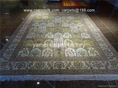 世界    的亚美地毯 艺术挂毯 手工地毯 蚕丝地毯