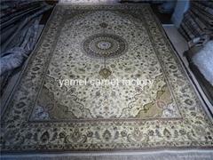 handmade silk persian silk carpet size 8X10 ft