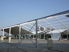 安裝大跨度航空鋁合金帳篷並提供傢具/地毯/空調/照明