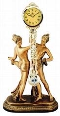 金鐘系列歐式裝飾品= 大尺寸的樹脂藝朮時鐘