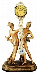 大尺寸的树脂艺术时钟-金钟系列欧式装饰品