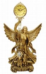 金鐘系列歐式裝飾品- 大尺寸的樹脂藝朮時鐘