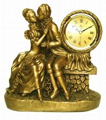小天使艺术装饰钟 读书工艺饰品-亚美制造
