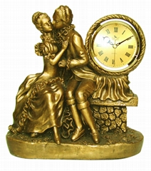 Lady Reading To Cherub Art  Yamei Deco Clock Made