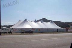 生产大型弧顶篷房 弯柱篷房 多边形篷房