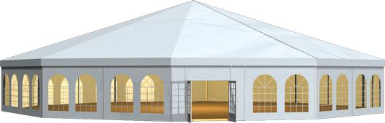 批發移動新派對帳篷 多拱形篷房 多邊形篷房 帶格力中央空調 3