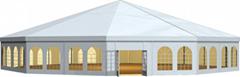 批發移動新派對帳篷 多拱形篷房 多邊形篷房 帶格力中央空調
