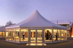 批发移动新派对帐篷 多拱形篷房 多边形篷房 带格力中央空调