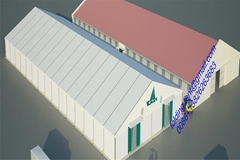 广州交易会展览帐篷 50x90m 现代工业帐篷,仓储篷房