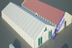 现代工业帐篷 40x90m 仓储篷房 122届广州交易会展览帐篷