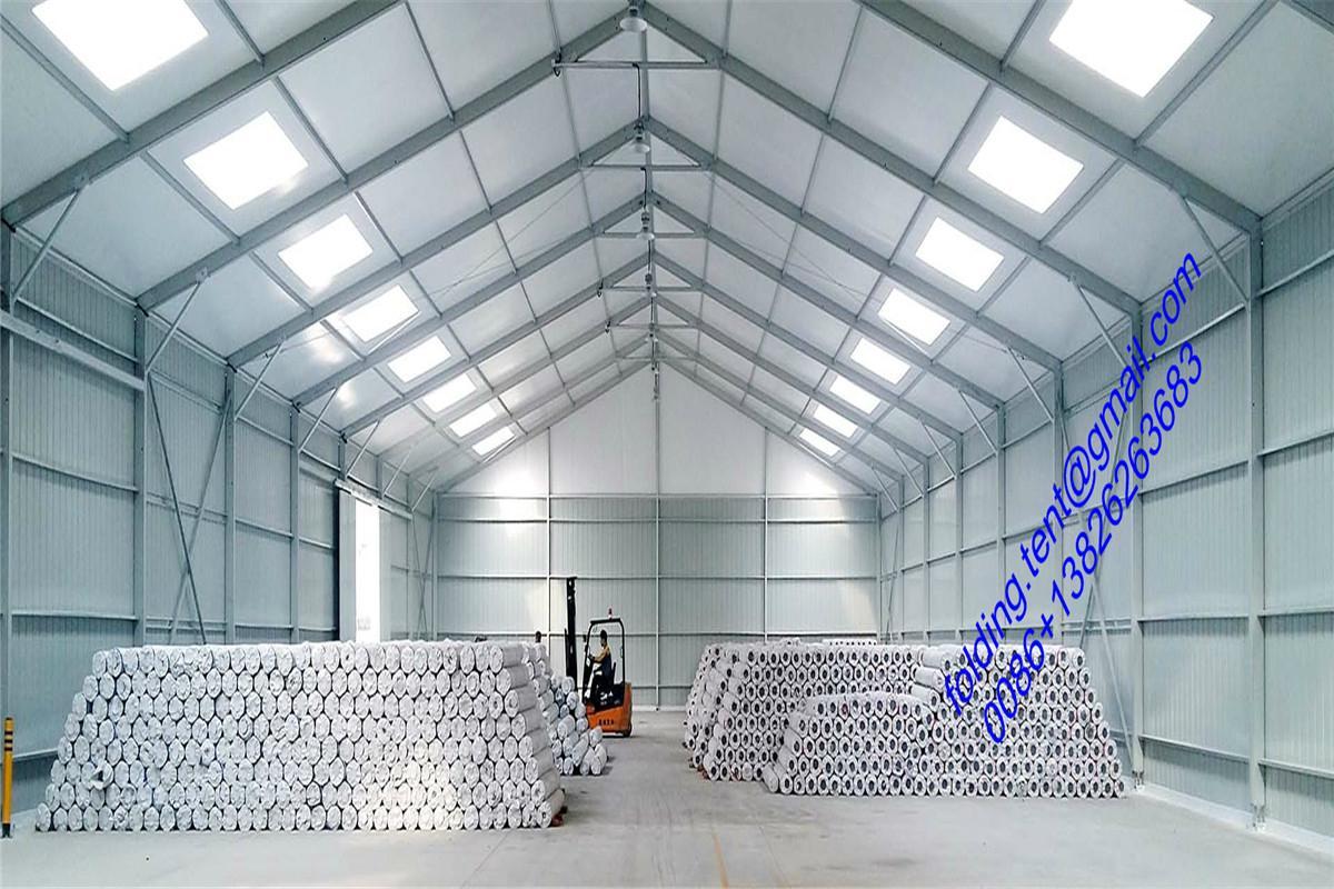 现代工业帐篷 40x90m 仓储篷房 122届广州交易会展览帐篷 2