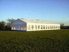Sports tent, spire tent and warehouse shed of the same quality as Mercedes Benz
