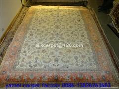 波斯富贵生产订制手工真丝 8X10 ft 广交会艺术地毯 波斯地毯
