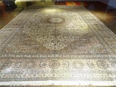 市長專用桑蠶絲地毯14x20 ft 批發零售手工波斯地毯