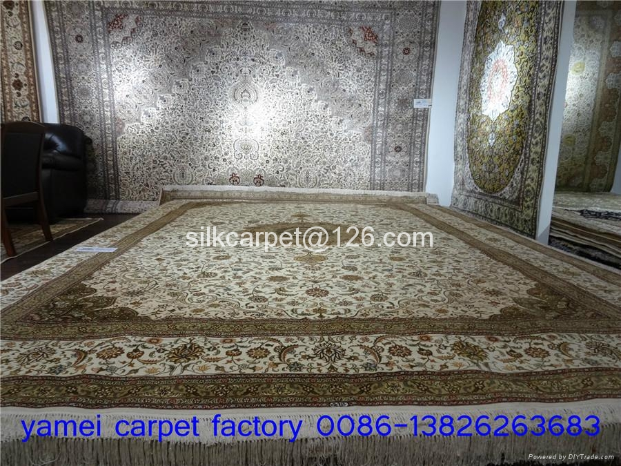 優惠沙特阿拉伯 手工打結真絲地毯 1