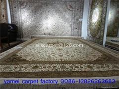 優惠真絲波斯地毯 沙特阿拉伯地毯 手工打結真絲地毯
