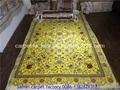 天然植物染色手工絲綢波斯地毯 祈禱毯子 波斯毯子 藝朮挂毯 1