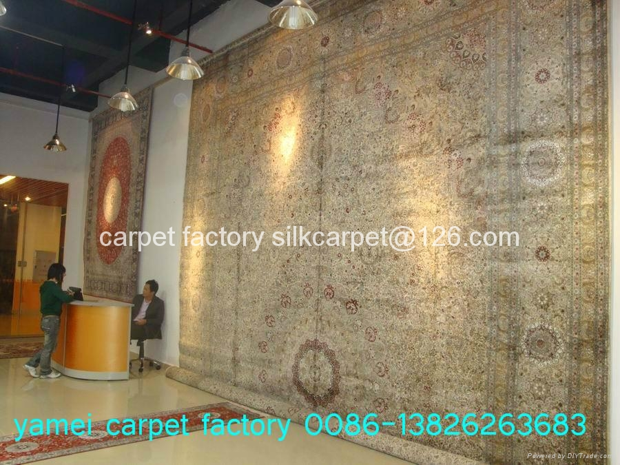 Yamei carpet factory, the best large-scale manual silk carpet manufacturer 1