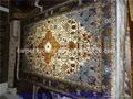 天然植物染色絲綢祈禱地毯-亞美