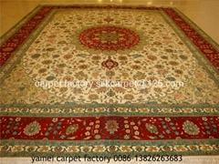 波斯地毯 8X10 ft 手工真丝艺术地毯