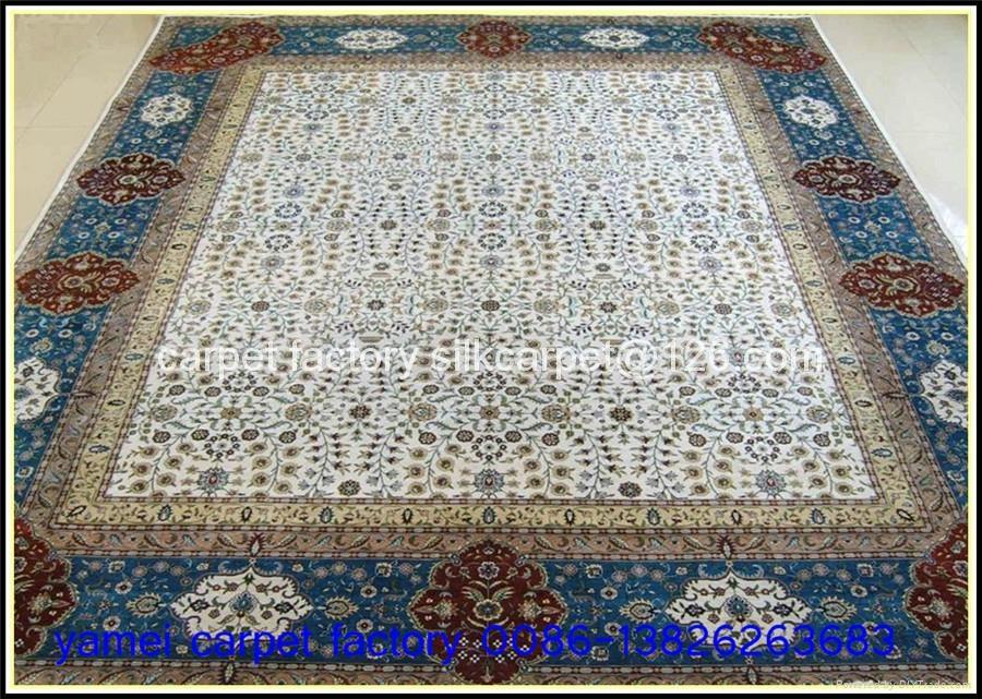 亚美地毯是世界大的手工真丝地毯厂 1