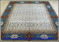 亞美地毯是世界大的手工真絲地毯廠,質量好!