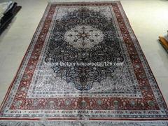 外交部优质天然蚕丝挂毯 真丝波斯地毯 5x8ft