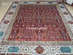 handicraft Persian Carpet 10x14 sq ft White collar of the first choice, rich peo