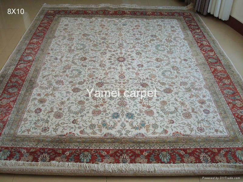 批发手工真丝波斯地毯。亚美地毯厂在广州 1